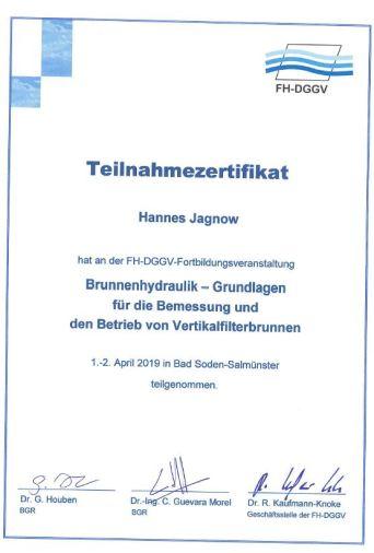 Zertifikat Hydraulik